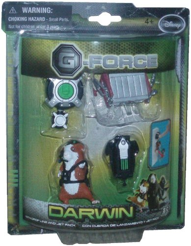 Disney G-Force Movie Series 2-1//2 Inch Tall Toy Action Figure DARWIN with Dropline and Jetpack Plus Toaster