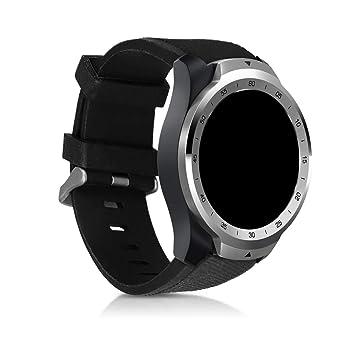 kwmobile Pulsera para Ticwatch Pro - Brazalete de [Silicona] en [Negro] sin Fitness Tracker