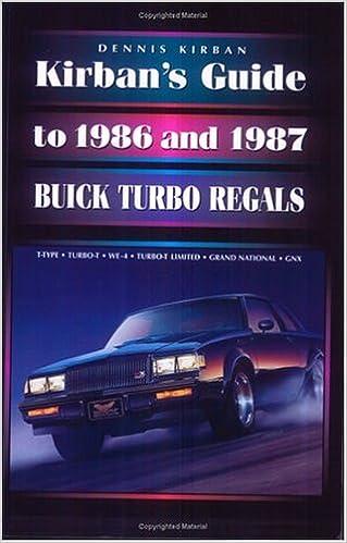 Kirbans Guide to 1986 and 1987 Buick Turbo Regals: Dennis Kirban: 9780965844703: Amazon.com: Books