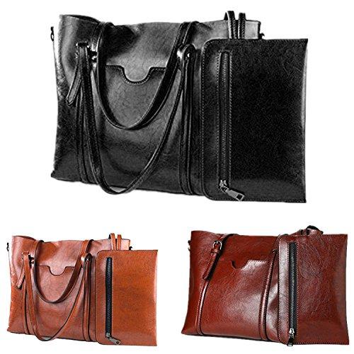 Brightblack Women Casual Bag Tote Shoulder Vintage Purse Handbags zZ8xgq0wF8
