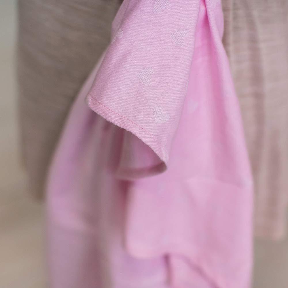 Love /& Carry/® Love Tie//Mei Tai Beb/è G/ürteltasche Ergonomisch Neugeborenes Stirnband Rosa Hearts