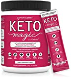 Keto Magic Exogenous Ketone Supplement Powered by Patent-Pending KETOBA (BHB Salts+BA) | Achieve Ketosis & Ketogenesis w/Easy On-The-Go Single Serving Pouches. Amazing Energy, Stamina & Focus. (15)