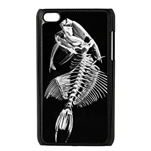 Custom Fishbone Unique Ipod Touch 4 4th Generation Protective Plastic cover case