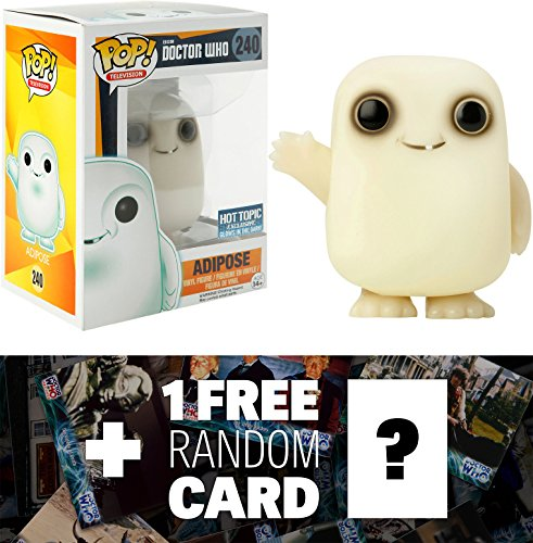 Adipose - Glow-in-Dark (Hot Topic Exclusive): Funko POP! x Doctor Who Vinyl Figure + 1 FREE Official Dr Who Trading Card Bundle (057848)