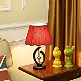 Best Globe Electric Dimmer Switches - ZfgG Environmental Protection Solid Wood Table Lamp, Red Review