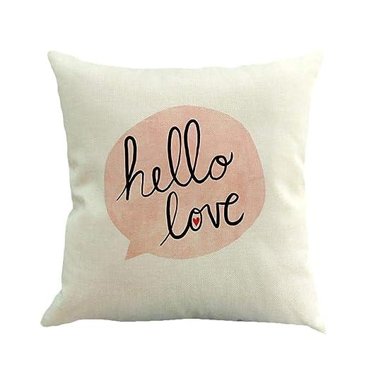 CHARMHOME - Funda de cojín para sofá con diseño de corazón y ...