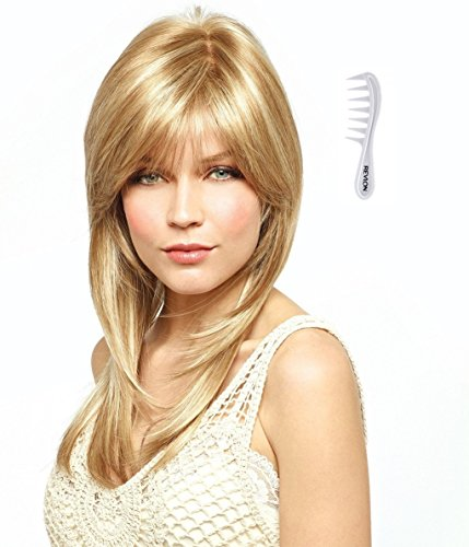 MIRANDA Monofilament Wig #2544 Amore Collection by Rene of Paris, Bundle - 2 items: Wig and Wig Lift Comb (Color Selected: RAZBERRY ICE) ()