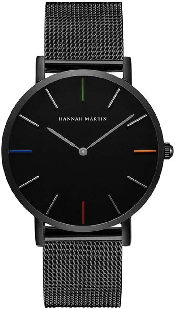 Infinito U- Fashion Relojes de Pulsera para Hombres Mujeres Correa de Acero Inoxidable Relojes Analógico Cuarzo de Negocios para Hombres Casual Impermeable Resistente al Agua