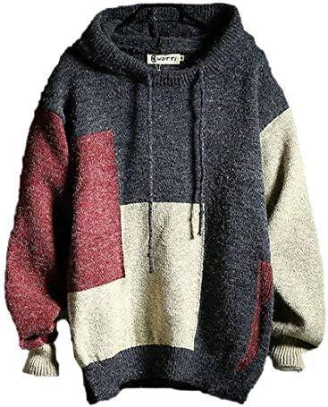 セーター メンズ 秋 冬 服 長袖 暖かい ニット 起毛 ヒップホップ カジュアル 男