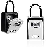 Key Lock Box, UPXON Large Capacity Key Storage Box with Resettable Code, 4 Digit Combination Lock Box for Spare Keys…