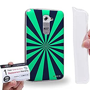 Case88 [LG G2] Gel TPU Carcasa/Funda & Tarjeta de garantía - Art Fashion Visual Art Effect 12 Art1021