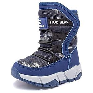 IceUnicorn Bottes de Neige garçon Fille d'hiver Chaussures de Neige Mixte Enfant Chaudes Peluche en Doublué Antidérapant…