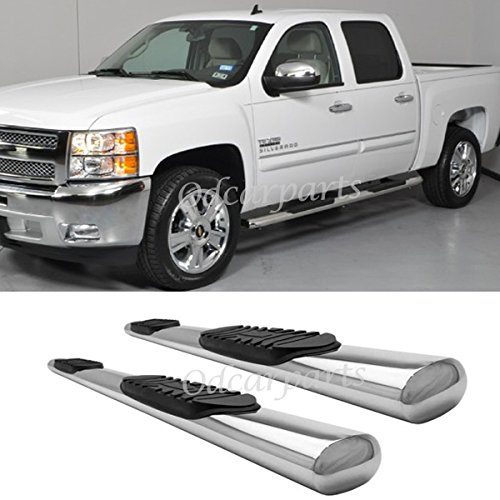 Truck Step Rails - Rocker Panel Mount:07-16 Silverado/Sierra 1500/2500/3500 Crew Cab (w/ 2 Full Size Front Doors + 2 Full Size Rear Doors,Exclude Diesel) 4