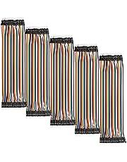 AZDelivery 5 x Jumper Draadkabel 40 stuks per 20 cm M2M Man naar Man compatibel met Arduino en Raspberry Pi Inclusief E-Book!