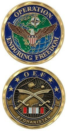Operation Enduring Freedom OEF Afghanistan Crossed Collectible Challenge Coin ()