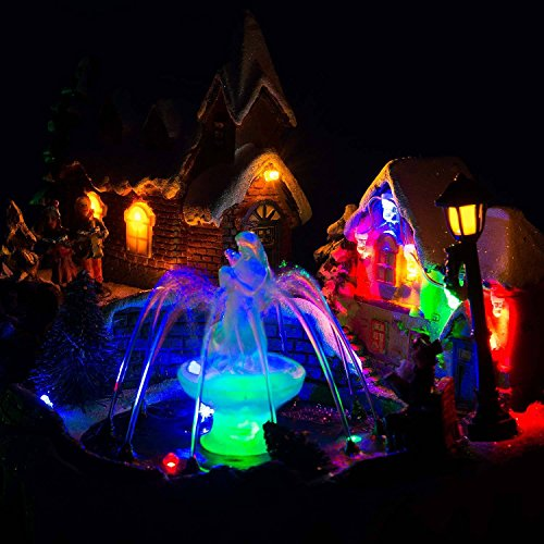 LED Christmas Water Fountain Musical Colour Changing Table Top Village Scene by Christow Decorations (Image #3)