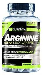 Nutrakey Arginine 500 Milligram 100 Capsules