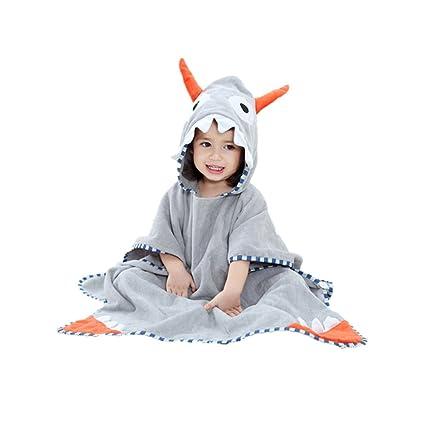 Towels Original Childrens Cathrobe Cotton Animal Dinosaur Cartoon Design Boys Girls Hooded Pure Cloak Children Towel 100% Cotton High Quality
