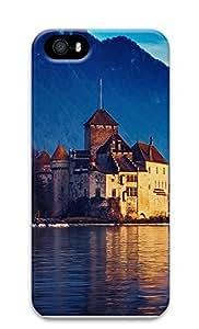 iPhone 5 5S Case Landscapes Lake Geneva 3D Custom iPhone 5 5S Case Cover