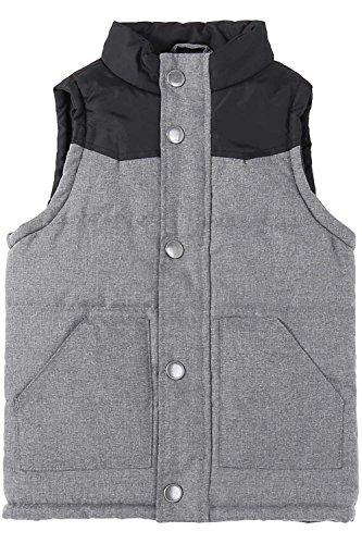 Bienzoe Kids Zip Quilted Sleeveless Warm Cotton-Padded Puff Vest Black2 Size 4