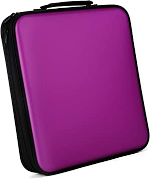 Bageek CD Carrying Case Large Capacity Portable Denim Discs Storage Case CD Organizer for Car