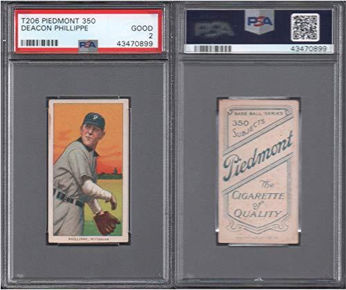1909 t206 tobacco (baseball) card#383 psa deacon phillippe (psa) of the pittsburgh Grade Good