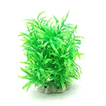Dimart Artificial Plastic Natural Bamboo Leaves Bionic Plants Ornaments for Fish Tank Aquarium Decoration (Green)