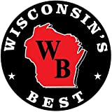 WISCONSIN'S BEST - Smoked Summer Sausage - JALAPENO & 100% WISCONSIN CHEDDAR CHEESE - Naturally Hickory Smoked - 12 oz ​- Slice and Eat