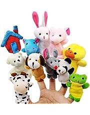 JZK 11 Dier vinger pop set klein knuffel dierlijke handpop voor kinderen feestartikelen verjaardag feesttas fillers