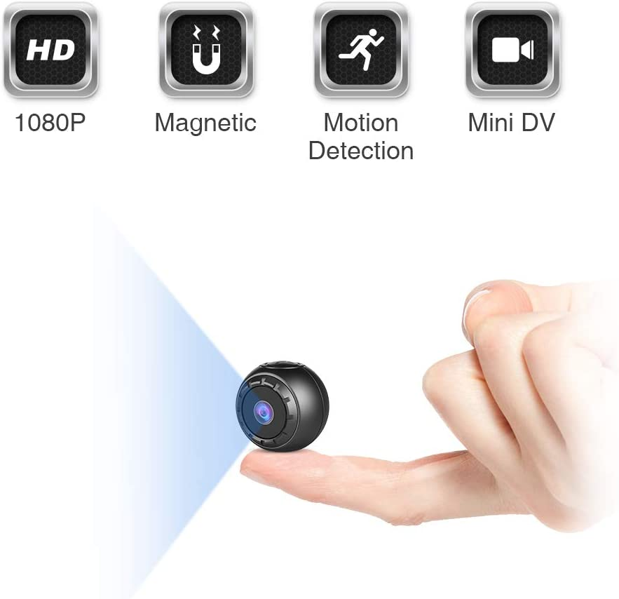 Mini Spy Hidden Camera, KFF HD 1080P Portable Small Secret Covert Nanny Cam with Night Vision and Motion Detection, Ultra Tiny Wireless Security Surveillance Camera for Indoor Outdoor