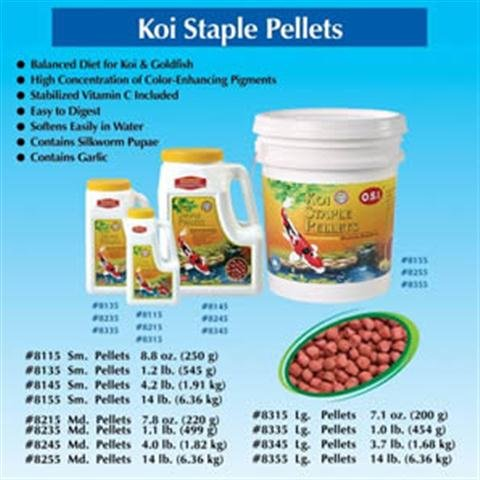Imperial Garden Products Osi Koi Staple Pellets Color Enhancing Floating Fish Food Large 1Lb