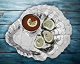 Arthur Court Designs Aluminum 15.5'' Oyster with Pearl Chip & Dip