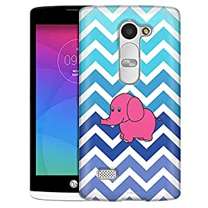 LG Tribute 2 Case, Slim Fit Snap On Cover by Trek Chevron Teal Blue Elephant White Case