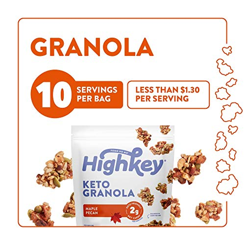 HighKey Keto Food Low Carb Granola Cereal & Clusters - Gluten Free Snacks & Breakfast Foods - Treats - Zero Added Sugar, High Protein Nut Snack - Diabetic, Paleo Healthy Diet Friendly Products 7