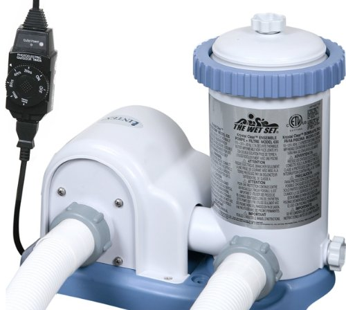 INTEX 1500 GPH Easy Set Swimming Pool Filter Pump with Timer | 56635E