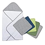 Best Trend Lab Towel Sets - Perfectly Navy Chevron Hooded Towel and Wash Cloth Review