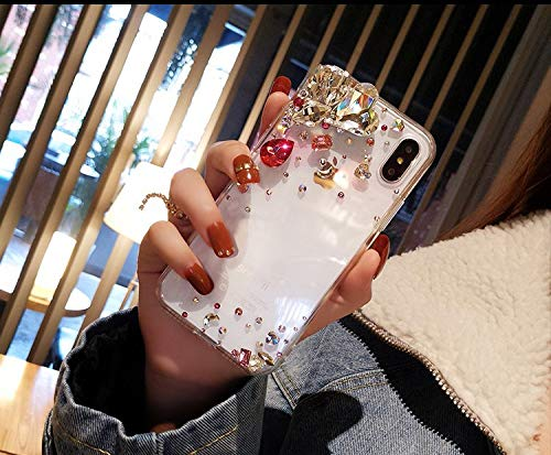 1 piece 3D Fashion Cases for Iphone X 8 Plus Case Luxury Cases for Iphone 7 6 6s Plus Cover Tpu Bumper Crystal Diamond Bling Accessories