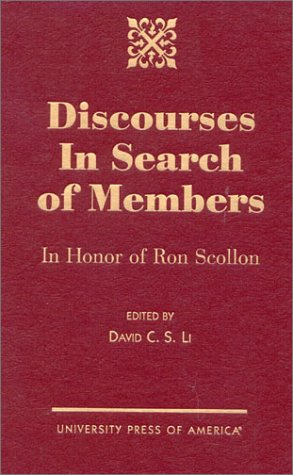 discourses-in-search-of-members-in-honor-of-ron-scollon