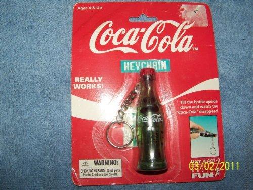 Coca Cola Key Chain Tilting Bottle
