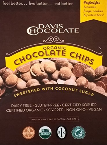 Organic Dark Chocolate Baking Chips made with Coconut Palm Sugar (Fondue With Chocolate Chips)