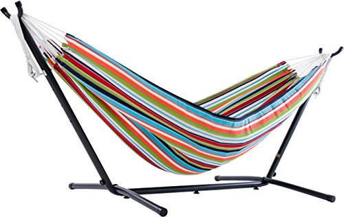 Vivere C9SUNC Hammock Stand, Carousel Confetti with Charcoal Frame