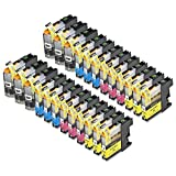 24 Pack Compatible Brother LC101 , LC103 6 Black, 6 Cyan, 6 Magenta, 6 Yellow for Use with Brother DCP-J152W, MFC-J245, MFC-J285DW, MFC-J4310DW, MFC-J4410DW, MFC-J4510DW, MFC-J4610DW, MFC-J4710DW, MFC-J475DW, MFC-J6520DW, MFC-J6720DW, MFC-J6920DW, MFC-J870DW, MFC-J875DW. Ink Cartridges for Inkjet Printers. LC101BK , LC101C , LC101M , LC101Y , LC103BK , LC103C , LC103M , LC103Y © Zulu Inks