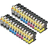 24 Pack Compatible Brother LC101 , LC103 6 Black, 6 Cyan, 6 Magenta, 6 Yellow for use with Brother DCP-J152W, MFC-J245, MFC-J285DW, MFC-J4310DW, MFC-J4410DW, MFC-J450DW, MFC-J4510DW, MFC-J4610DW, MFC-J470DW, MFC-J4710DW, MFC-J475DW, MFC-J650DW, MFC-J6520DW, MFC-J6720DW, MFC-J6920DW, MFC-J870DW, MFC-J875DW. Ink Cartridges for inkjet printers. LC101BK , LC101C , LC101M , LC101Y , LC103BK , LC103C , LC103M , LC103Y © Zulu Inks