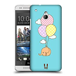 Head Case Designs Flying Kawaii Elephants Hard Back Case Cover for HTC One mini