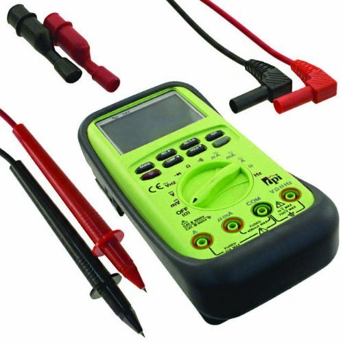 TPI 183a True RMS Digital Multimeter with Capacitance and Protective Boot, 40 Megaohms Resistance, 750V AC, 1000V DC Voltage, 10A AC/DC Current