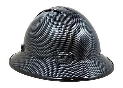 Hardhatgear Custom Hydro Dipped Vented Full Brim Hard Hat In Carbon