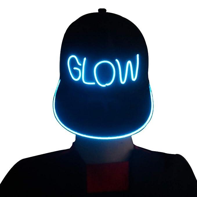 bd96482c71a Amazon.com  RaveLife Light up Snapback hat (Aqua)  Clothing