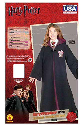 Rubie's 884259 Deluxe Harry Potter Child's Hermione Granger Costume Robe With Gryffindor Emblem, Large, Multicolor