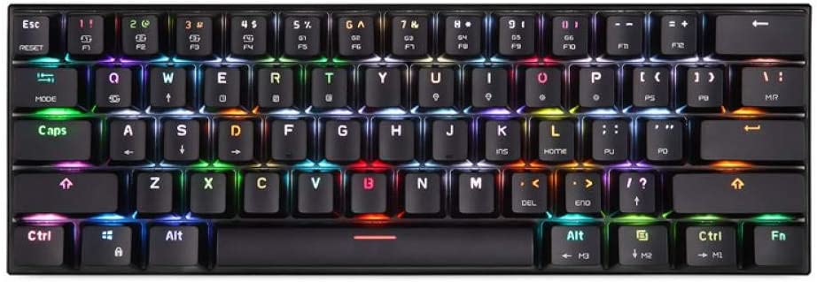 HLOIPYUR Keyboard Wired//Bluetooth Keyboard Dual Mode Mechanical Keyboard 61 Keys RGB LED Backlight Gaming Keyboard
