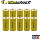 #5: 10x Exell C Size 1.2V 3000mAh NiCD Button Top Rechargeable Batteries for medical instruments/equipment, electric razors, toothbrushes, radio controlled devices, electric tools